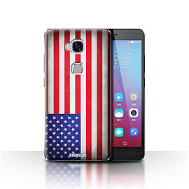 STUFF4 Case/Cover for Huawei Honor 5X/GR5 / America/American/USA Design / Flags Collection Mobile phones