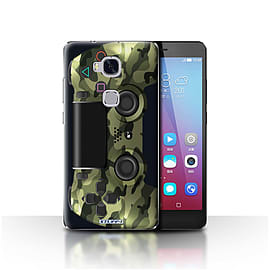 STUFF4 Case/Cover for Huawei Honor 5X/GR5 / Green Camouflage Design / Playstation PS4 Collection Mobile phones