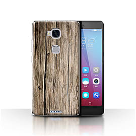 STUFF4 Case/Cover for Huawei Honor 5X/GR5 / Driftwood Design / Wood Grain Effect/Pattern Collection Mobile phones