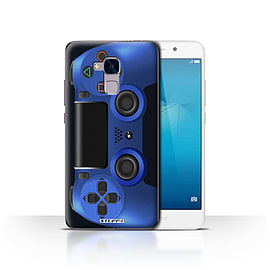 STUFF4 Case/Cover for Huawei Honor 5c / Blue Design / Playstation PS4 Collection Mobile phones