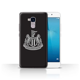 Official Newcastle United FC Case/Cover for Huawei Honor 5c/Mono/Black Design/NUFC Football Crest Mobile phones