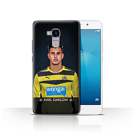 Official Newcastle United FC Case/Cover for Huawei Honor 5c/Darlow Design/NUFC Football Player 15/16 Mobile phones