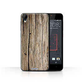 STUFF4 Case/Cover for HTC Desire 825 / Driftwood Design / Wood Grain Effect/Pattern Collection Mobile phones
