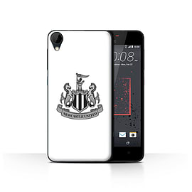 Official Newcastle United FC Case/Cover for HTC Desire 825/Mono/White Design/NUFC Football Crest Mobile phones