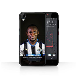 Official Newcastle United FC Case/Cover for HTC Desire 825/Doumbia Design/NUFC Football Player 15/16 Mobile phones