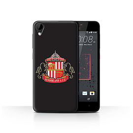 Official Sunderland AFC Case/Cover for HTC Desire 825/Black Design/SAFC Football Club Crest Mobile phones