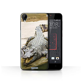 STUFF4 Case/Cover for HTC Desire 825 / Crocodile Design / Wildlife Animals Collection Mobile phones