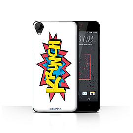 STUFF4 Case/Cover for HTC Desire 825 / Krunch Design / Comics/Cartoon Words Collection Mobile phones