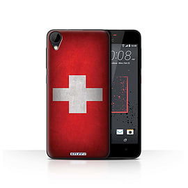 STUFF4 Case/Cover for HTC Desire 825 / Switzerland/Swiss Design / Flags Collection Mobile phones