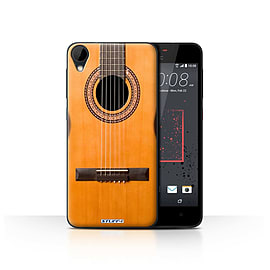 STUFF4 Case/Cover for HTC Desire 825 / Wood/Wooden Acoustic Design / Guitar Collection Mobile phones
