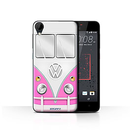 STUFF4 Case/Cover for HTC Desire 825 / Pink Design / VW Camper Van Collection Mobile phones