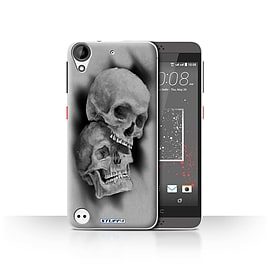 STUFF4 Case/Cover for HTC Desire 530 / Mist/Fog Design / Skull Art Sketch Collection Mobile phones