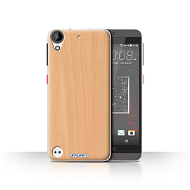 STUFF4 Case/Cover for HTC Desire 530 / Beech Design / Wood Grain Effect/Pattern Collection Mobile phones