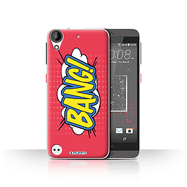 STUFF4 Case/Cover for HTC Desire 630 / Bang! Design / Comics/Cartoon Words Collection Mobile phones