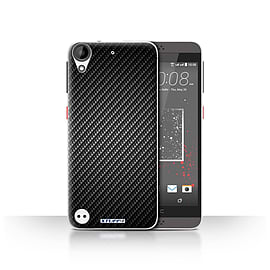 STUFF4 Case/Cover for HTC Desire 630 / Grey Design / Carbon Fibre Effect/Pattern Collection Mobile phones