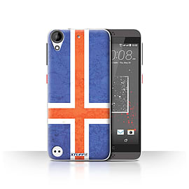 STUFF4 Case/Cover for HTC Desire 530 / Iceland/Icelandic Design / Flags Collection Mobile phones