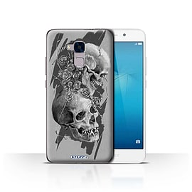 STUFF4 Case/Cover for Huawei Honor 5c / Thorns Design / Skull Art Sketch Collection Mobile phones