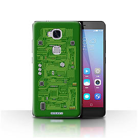 STUFF4 Case/Cover for Huawei Honor 5X/GR5 / Green Design / Circuit Board Collection Mobile phones