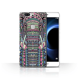 STUFF4 Case/Cover for Huawei Honor V8 / Elephant-Colour Design / Aztec Animal Design Collection Mobile phones