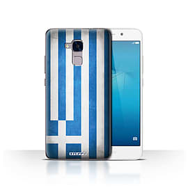 STUFF4 Case/Cover for Huawei Honor 5c / Greece/Greek Design / Flags Collection Mobile phones