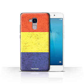 STUFF4 Case/Cover for Huawei Honor 5c / Romania/Romanian Design / Flags Collection Mobile phones