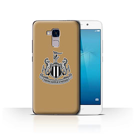 Official Newcastle United FC Case/Cover for Huawei Honor 5c/Mono/Gold Design/NUFC Football Crest Mobile phones