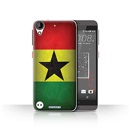 STUFF4 Case/Cover for HTC Desire 630 / Ghana/Ghanaian Design / Flags Collection Mobile phones