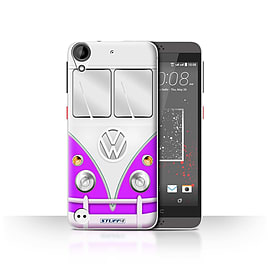 STUFF4 Case/Cover for HTC Desire 630 / Purple Design / VW Camper Van Collection Mobile phones
