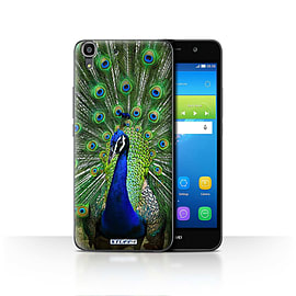 STUFF4 Case/Cover for Huawei Y6 / Peacock Design / Wildlife Animals Collection Mobile phones