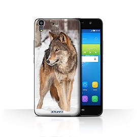 STUFF4 Case/Cover for Huawei Y6 / Wolf Design / Wildlife Animals Collection Mobile phones