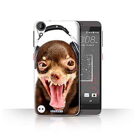 STUFF4 Case/Cover for HTC Desire 530 / Ridiculous Dog Design / Funny Animals Collection Mobile phones