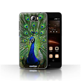 STUFF4 Case/Cover for Huawei Y5II/Y5 2 / Peacock Design / Wildlife Animals Collection Mobile phones