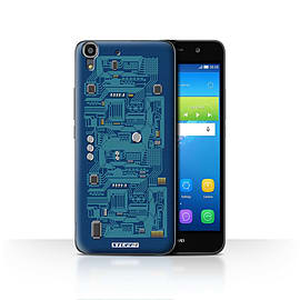 STUFF4 Case/Cover for Huawei Y6 / Blue Design / Circuit Board Collection Mobile phones