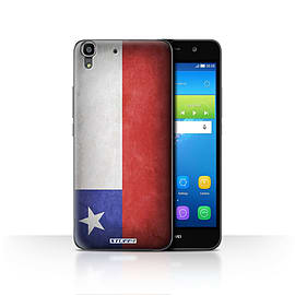 STUFF4 Case/Cover for Huawei Y6 / Chile/Chiliean Design / Flags Collection Mobile phones