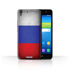STUFF4 Case/Cover for Huawei Y6 / Russia/Russian Design / Flags Collection Mobile phones