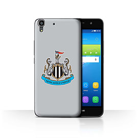 Official Newcastle United FC Case/Cover for Huawei Y6/Colour/Grey Design/NUFC Football Crest Mobile phones