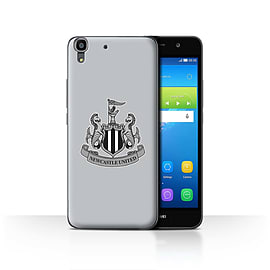 Official Newcastle United FC Case/Cover for Huawei Y6/Mono/Grey Design/NUFC Football Crest Mobile phones