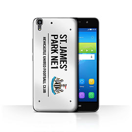 Official Newcastle United FC Case/Cover for Huawei Y6/White/Black Design/St James Park Sign Mobile phones