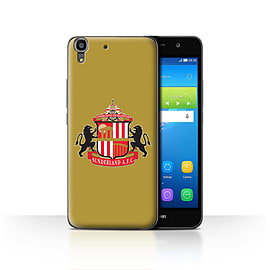 Official Sunderland AFC Case/Cover for Huawei Y6 / Gold Design / SAFC Football Club Crest Collection Mobile phones
