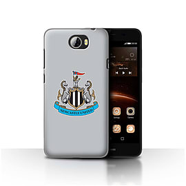 Official Newcastle United FC Case/Cover for Huawei Y5II/Y5 2/Colour/Grey Design/NUFC Football Crest Mobile phones