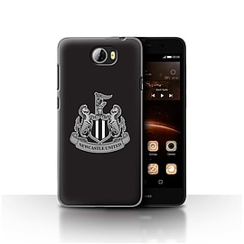 Official Newcastle United FC Case/Cover for Huawei Y5II/Y5 2/Mono/Black Design/NUFC Football Crest Mobile phones