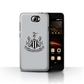 Official Newcastle United FC Case/Cover for Huawei Y5II/Y5 2/Mono/Grey Design/NUFC Football Crest Mobile phones