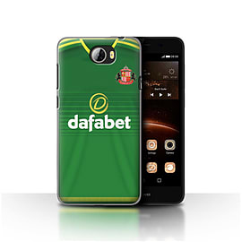 Official Sunderland AFC Case/Cover for Huawei Y5II/Y5 2/Footballer Design/SAFC Away Shirt/Kit 15/16 Mobile phones