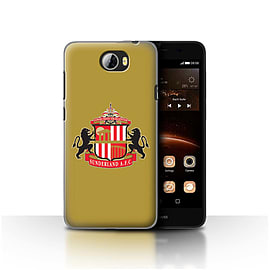 Official Sunderland AFC Case/Cover for Huawei Y5II/Y5 2/Gold Design/SAFC Football Club Crest Mobile phones
