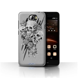 STUFF4 Case/Cover for Huawei Y5II/Y5 2 / Three Design / Skull Art Sketch Collection Mobile phones