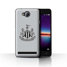Official Newcastle United FC Case/Cover for Huawei Y3II/Y3 2/Mono/Grey Design/NUFC Football Crest Mobile phones
