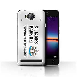 Official Newcastle United FC Case/Cover for Huawei Y3II/Y3 2/White/Black Design/St James Park Sign Mobile phones