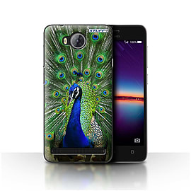 STUFF4 Case/Cover for Huawei Y3II/Y3 2 / Peacock Design / Wildlife Animals Collection Mobile phones