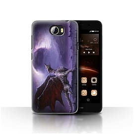 Official Chris Cold Case/Cover for Huawei Y5II/Y5 2/Dragon/Eclipse Design/Dark Art Demon Mobile phones