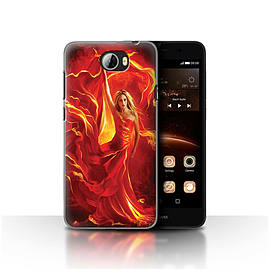 Official Elena Dudina Case/Cover for Huawei Y5II/Y5 2/Fire Dress Design/Dragon Reptile Mobile phones
